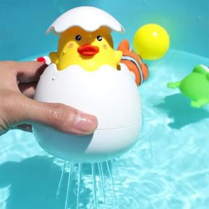 Childrens Bath Floating Shower Toy Duck Egg-HV