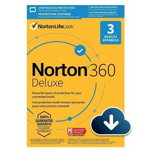 Norton 21405146 360 Deluxe 25 GB 3 Device AR-HV