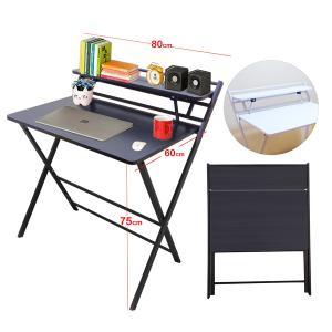 Folding Table Computer Desk Simple Desk For Living Room Black GM549-bl-HV