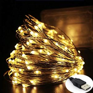 2021 TOP SELLING LED FIREFLY STRING FAIRY LIGHT WARM WHITE WITH USB CONNECTOR 10M 100 LEDS-HV