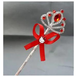 Cartoon Childrens Role Playing Hair Accessories Red Magic Wand-HV