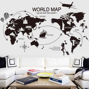 Travel the World Map Vinyl Wall Stickers-HV