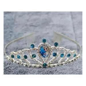 Cartoon Childrens Role Playing Hair Accessories Blue Crown-HV