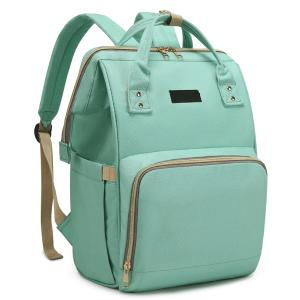 Diaper Bag Backpack and Multifunction Travel Backpack, Water Resistance and Large Capacity, Light Green-HV