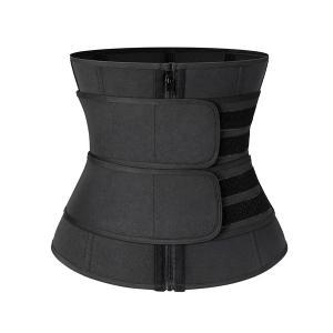SWEATFIT Adjustable Slimming Waist Trimmer Black-HV