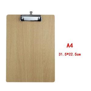 Wooden Pad Writing Board Flat Clip-HV