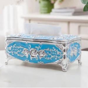 European Style Light Luxury Acrylic Tissue Box Blue-HV