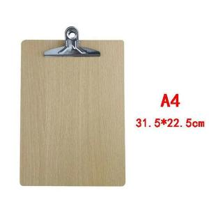 Wooden Pad Writing Board Butterfly Clip-HV