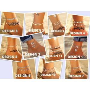11 New Fashion Bohemian Anklet Set For Women-HV