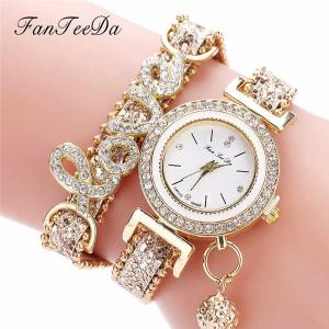High Quality Beautiful Fashion Women Bracelet Watch Ladies Watch Casual Round Analog Quartz Wrist Bracelet Watch For Women A40-HV