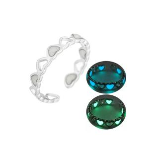 Signature Collections Glow In Dark Luminous adjustable Rings-HV