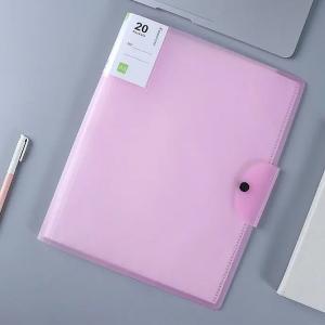 A3 File Folder Book Transparent 20 Pages-HV