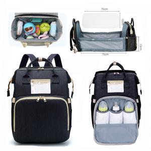 2 in 1 Multifunctional Baby Diaper Bag Backpack Black GM276-5-bl-HV