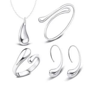 SIGNATURE COLLECTIONS 5 Pcs Droplet Design Jewelry set-HV