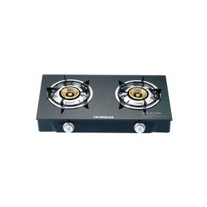 Olsenmark OMK2085 Stainless Steel Double Burner Gas Cooker-HV