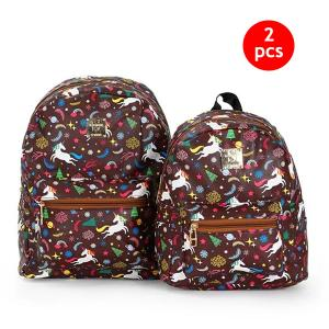 2 IN 1 Combo 10-Inch And 13-Inch Okko Mochila Backpack GH-179- Brown-HV