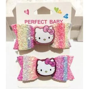 Hello Kitty Shiny Bow Hairpin Bowknot-HV