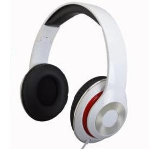 Krypton KNHP5045 Sterio Headphones, White -HV