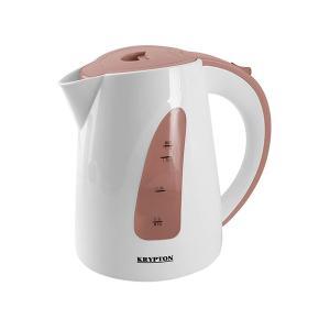 Krypton KNK6023 Electric Kettle, White/Brown-HV