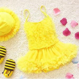 Yarn Skirt Baby Girl Swimsuit-HV
