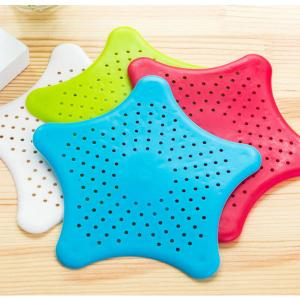 Starfish Sink Filter Silicone Anti-blocking Suckers, Assorted Color-HV