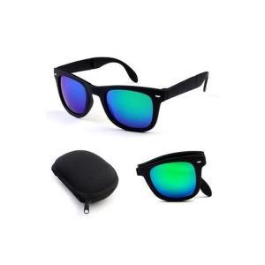 GO LIFE Wayfarer Design Polarized UV Protection Foldable Mirror Finished Sunglasses -HV