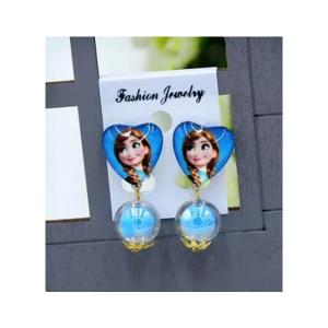 Childrens Cartoon Pierced Earrings Blue Anna-HV