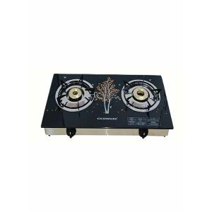 Olsenmark OMK2225 2 Burner Glass Top Gas Stove-HV