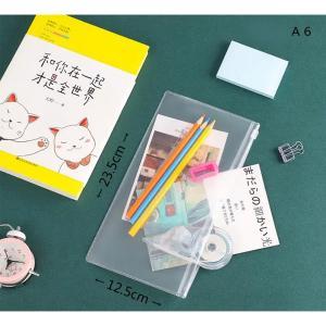 Frosted Transparent Zipper File Pocket A6 Frosted-HV