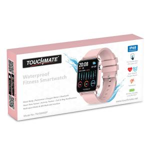 Touchmate TM-SW450P Full Touch Fitness Smartwatch, Pink-HV