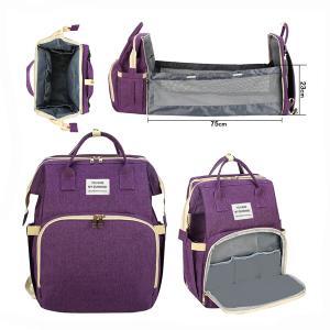 2 In 1 Diaper Bag Purple GM276-3-pur-HV