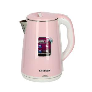 Krypton KNK6062 1.8 L Stainless Steel Double Layer Electric Kettle, Pink-HV