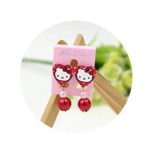 Childrens Cartoon Pierced Earrings Red -HV