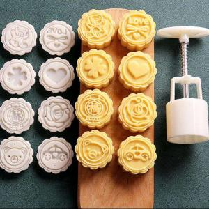 GO HOME 6 IN 1 CREATIVE DESIGN MOON CAKE COOKIE MAKER MOULD-HV