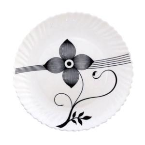 Royalford RF6102 Opal Soup Plate Art Flower, 8.5 Inch -HV