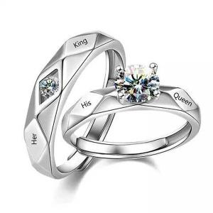 SIGNATURE COLLECTIONS ROMANTIC CONFESSION KING QUEEN COUPLE RING-HV