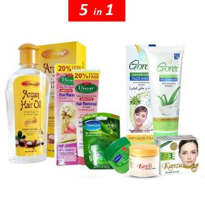 Womens Daily Beauty Essential Pack 5 in 1 Set-HV