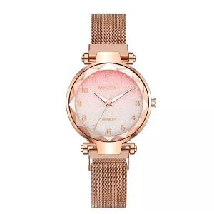 SIGNATURE COLLECTIONS Rose Gold Magnetic Strap Watch-HV