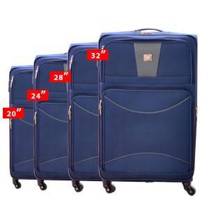 QTS Travelling Trolley 4pcs, Blue-HV