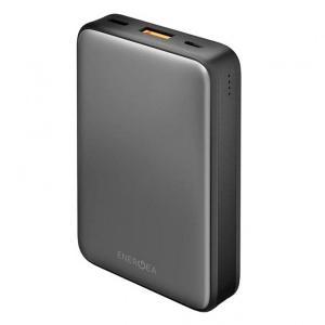 Energea CP-AM1201-GUN Compac Alumini USB-C PD Aluminum Power Bank Smart Fast Charge 4.0 10000mah Li-poly Gunmetal -HV