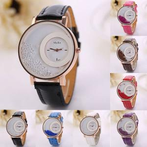 CLAUDIA Quartz Watch With Leather Strap for Women, Assorted Color-HV