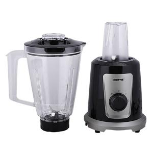 Geepas GSB44030 2 in 1 Multifunctional Blender Stainless Steel Blades 2 Speed Control With Pulse 1.5L Jar Interlock Protection 500w -HV