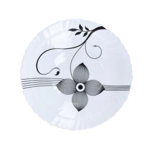 Royalford RF6103 Opal Ware Art Flower Dinner Plate, 7.5 Inch -HV