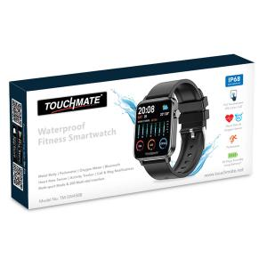 Touchmate TM-SW450B Full Touch Fitness Smartwatch, Black-HV