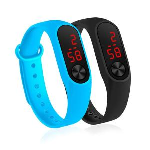 Sport Led Digital Watch for Unisex, Assorted Color-HV