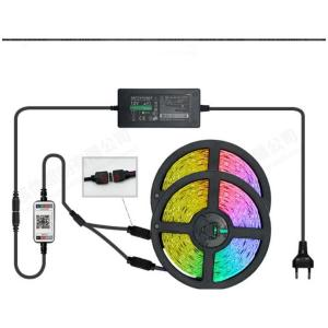Trending RGB LED Strip Lights With Bluetooth App And IP 65 Epoxy Waterproof 15m-HV
