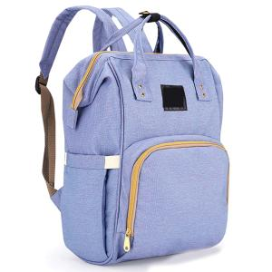 Diaper Bag Backpack and Multifunction Travel Backpack, Water Resistance and Large Capacity, Purple Blue-HV