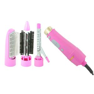 Geepas GH714 4 In 1 Hair Styler, Straighter, Volumizer Hot Air Brush With 2 Speed Settings-HV