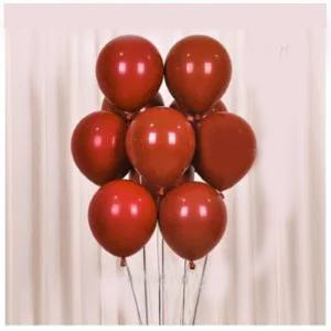 Double Ruby Red Round Balloons 50 Pieces / 1 Pack-HV