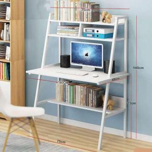 Strong Computer Desk With 3 Shelfs White GM549-3-w-HV